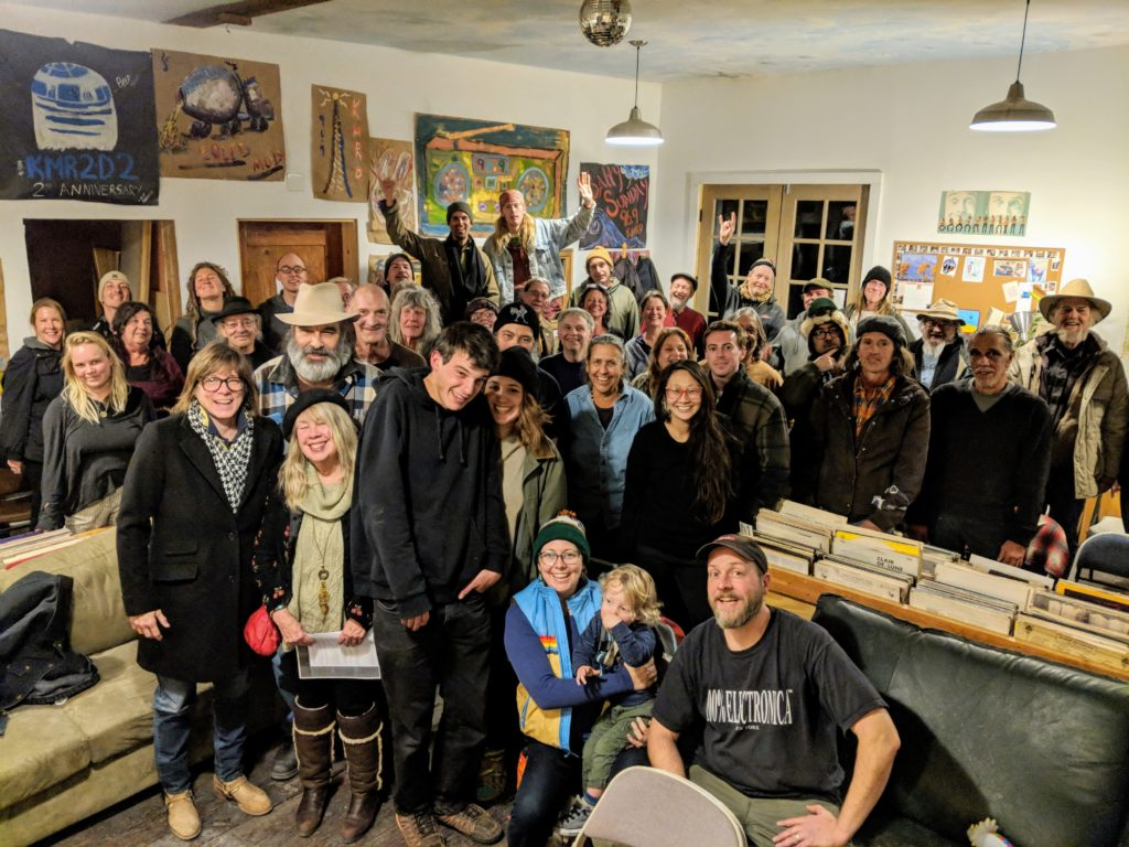 About 40 of our 70+ DJs hang out at the KMRD studios, 2018